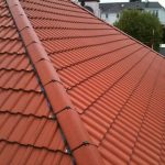 Felling tiled roof
