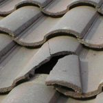 broken tiles in Whitley Bay