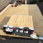 fibreglass roof installation in Long Benton