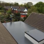 fibreglass roofing in Long Benton